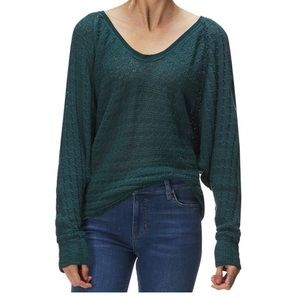 Free people teal sweater